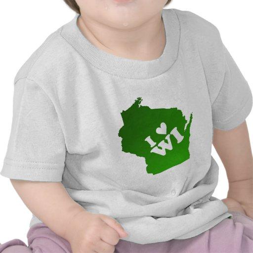 I corazón Wisconsin Camiseta