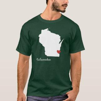 I corazón Wisconsin - ciudad adaptable Playera
