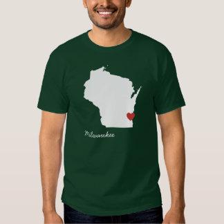 I corazón Wisconsin - ciudad adaptable Remeras
