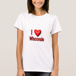 I corazón Wisconsin Playera