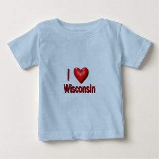 I corazón Wisconsin Playera De Bebé