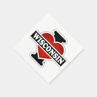 I corazón Wisconsin Servilleta Desechable
