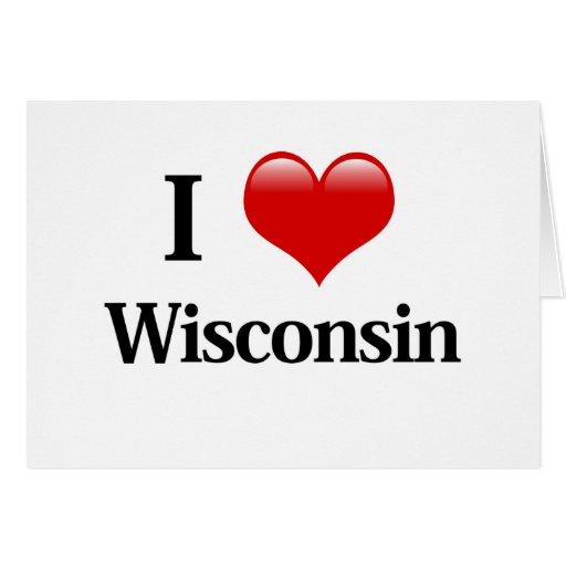 I corazón Wisconsin Tarjeta De Felicitación