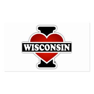 I corazón Wisconsin Tarjetas De Visita