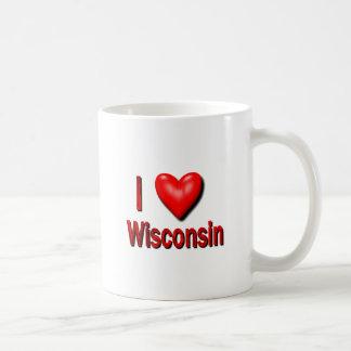 I corazón Wisconsin Taza