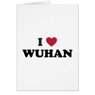 I corazón Wuhan China Tarjeta De Felicitación