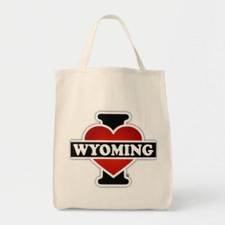 I corazón Wyoming Bolsa Tela Para La Compra