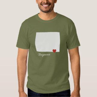 I corazón Wyoming - ciudad adaptable Camisas