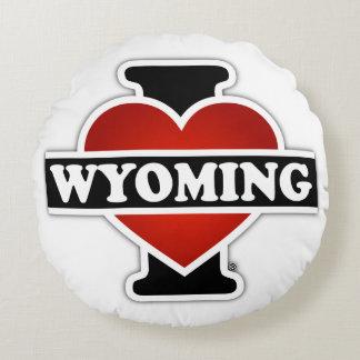 I corazón Wyoming Cojín Redondo