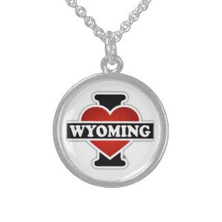 I corazón Wyoming Collar De Plata Esterlina