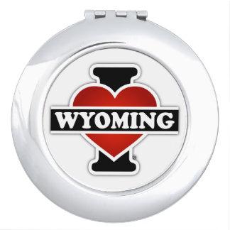 I corazón Wyoming Espejo De Maquillaje