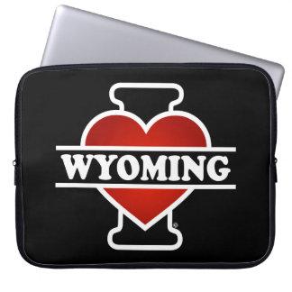I corazón Wyoming Fundas Computadoras