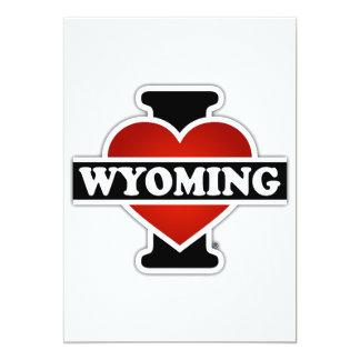 """I corazón Wyoming Invitación 5"""" X 7"""""""