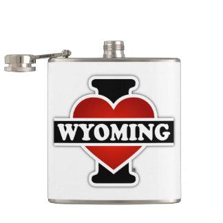 I corazón Wyoming Petaca