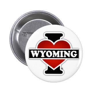 I corazón Wyoming Pin Redondo De 2 Pulgadas