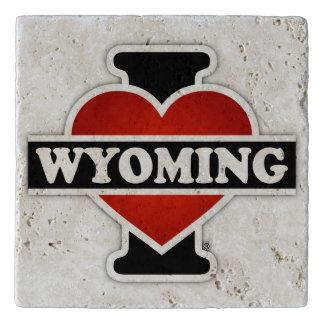 I corazón Wyoming Salvamanteles