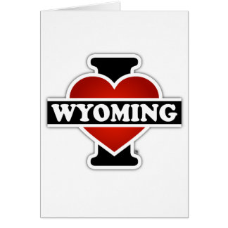 I corazón Wyoming Tarjeta De Felicitación