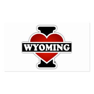 I corazón Wyoming Tarjetas De Visita