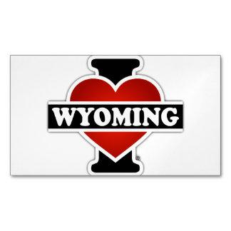 I corazón Wyoming Tarjetas De Visita Magnéticas (paquete De 25)