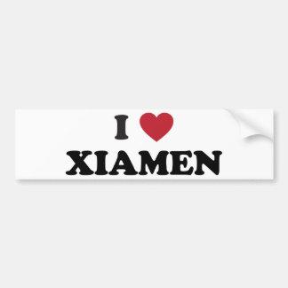 I corazón Xiamen China Etiqueta De Parachoque