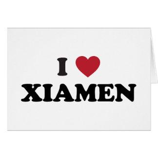 I corazón Xiamen China Tarjeton