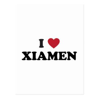 I corazón Xiamen China Tarjeta Postal