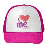 I corazón yo rosado/púrpura gorras