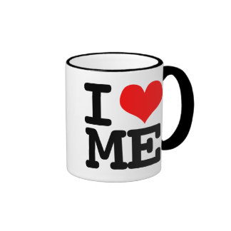 I corazón yo taza de café