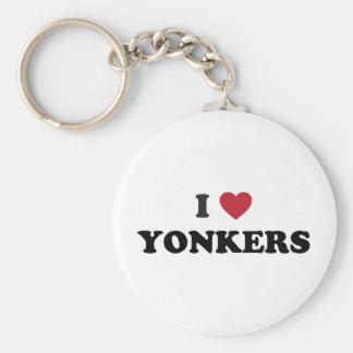 I corazón Yonkers Nueva York Llavero Redondo Tipo Pin