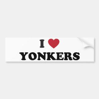 I corazón Yonkers Nueva York Pegatina Para Auto