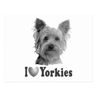 I corazón Yorkies con imagen Tarjetas Postales