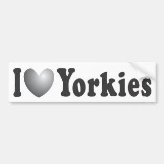 I corazón Yorkies - pegatina para el parachoques Pegatina Para Auto