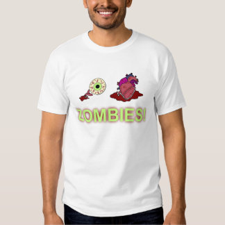 ¡(I) (CORAZÓN) ZOMBIS! Camiseta Playeras