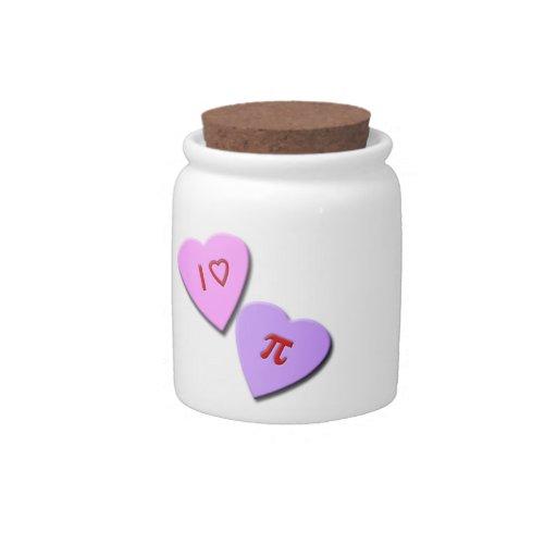 I corazones del caramelo del corazón pi jarra para caramelo