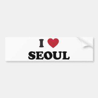 I Corea del Sur de Seul del corazón Pegatina De Parachoque