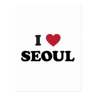 I Corea del Sur de Seul del corazón Tarjeta Postal