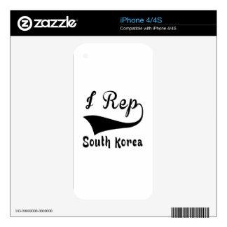 I Corea del Sur del representante Calcomanía Para iPhone 4