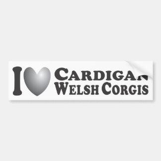 I Corgis Galés de la rebeca del corazón - pegatina Pegatina Para Auto
