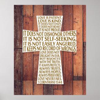 I Corinthians 13:4-8 Bible Verse Love is Patient Poster