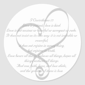 I Corinthians 13 Love/Wedding Sticker