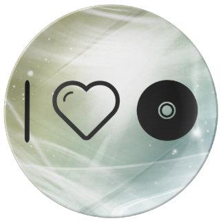 I cortes del disco del corazón platos de cerámica