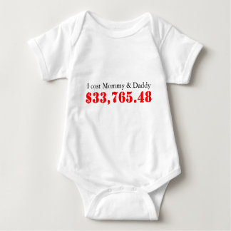 I cost Mommy & Daddy, $33,765.48 Tee Shirt