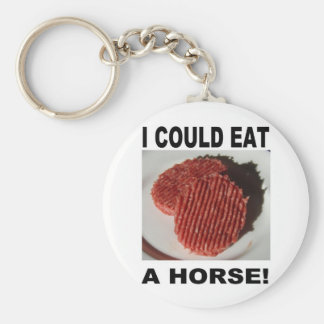 I could eat has horse - beef burgers keychain