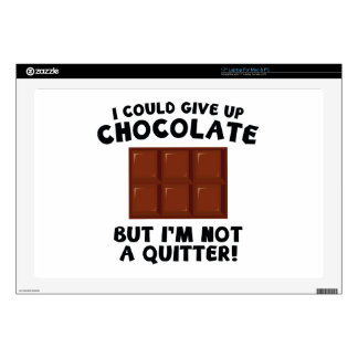 I Could Give Up Chocolate Laptop Skin