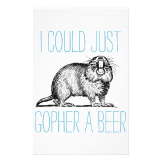 I Could Just Gopher a Beer Stationery