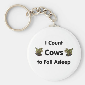 I Count Cows To Fall Asleep Basic Round Button Keychain