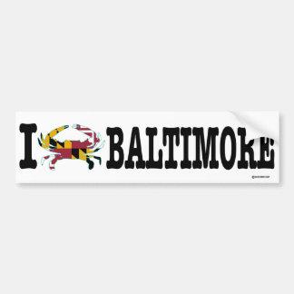 I Crab Baltimore Bumper Sticker