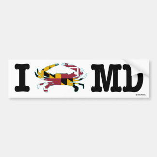 I Crab Maryland Bumper Sticker