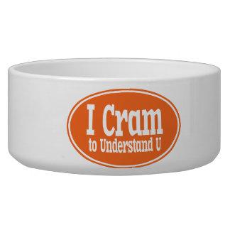 I Cram to Understand U Bowl