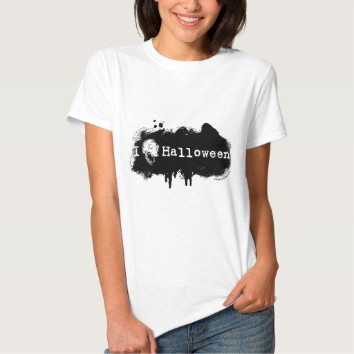I cráneo (del corazón) Halloween Tee Shirts